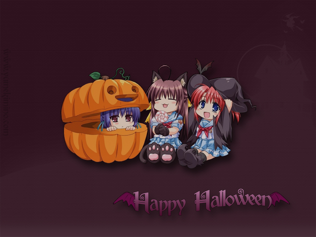 Holiday Wallpapers Cute Halloween Wallpapers 1024x768