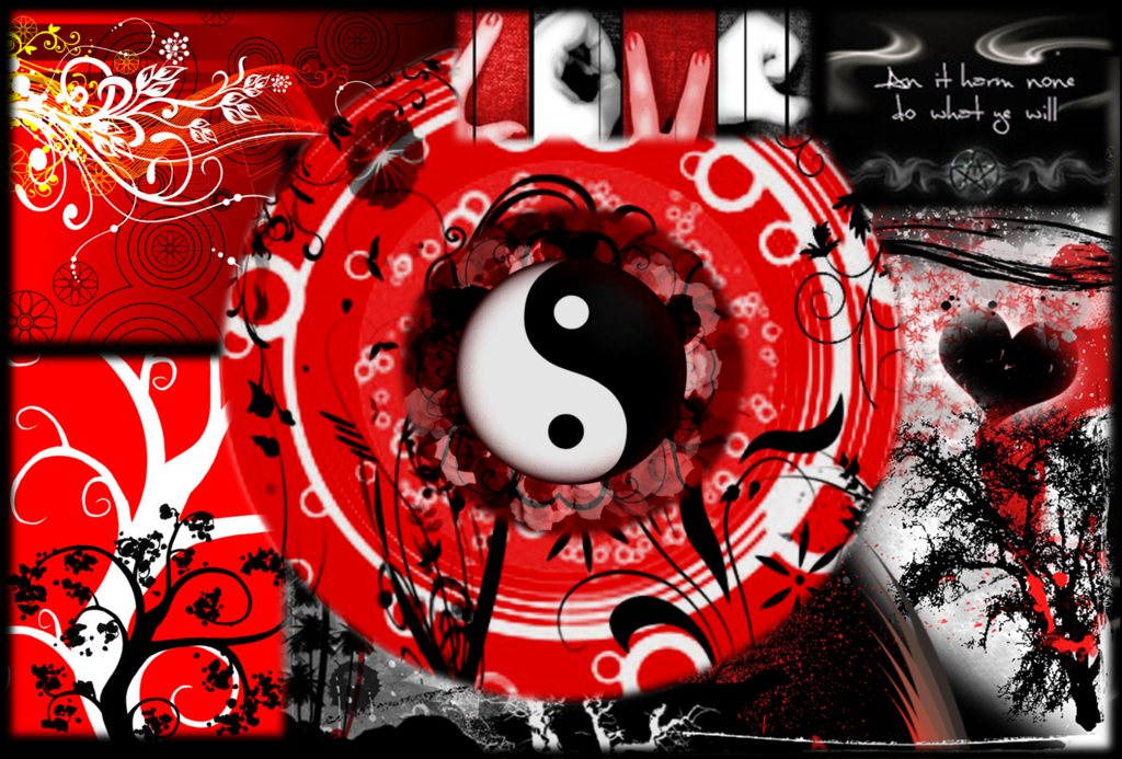 Black Red and White Wallpaper by DeafbutforMusic 1024x693