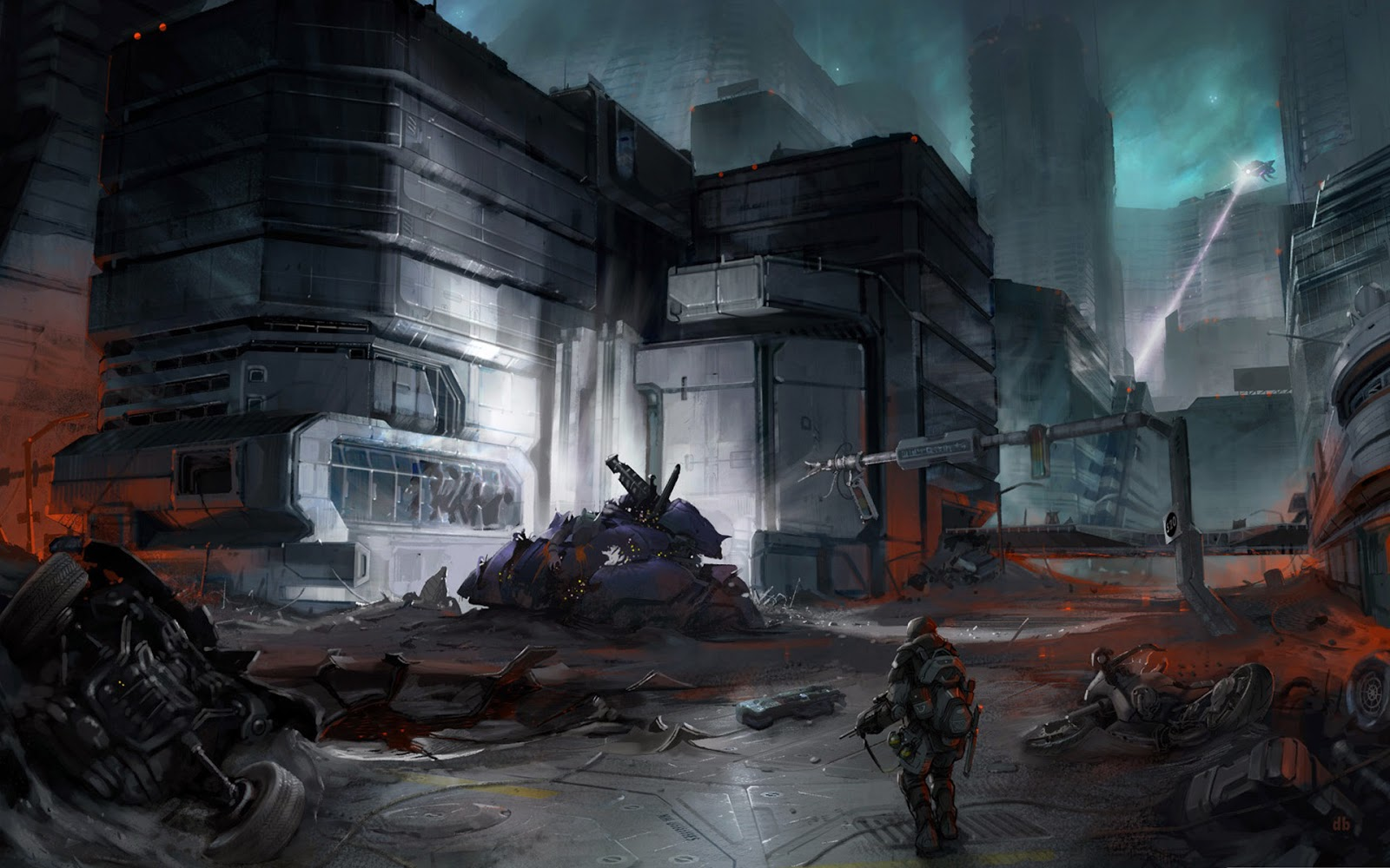 Halo Video Games Concept Art Buildings City Soldier HD Wallpaper x02 1600x1000