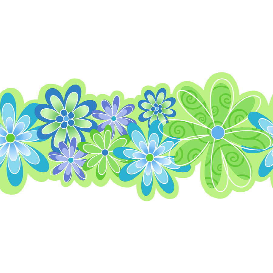 11 Contemporary Flowers Prepasted Wallpaper Border at Lowescom 900x900