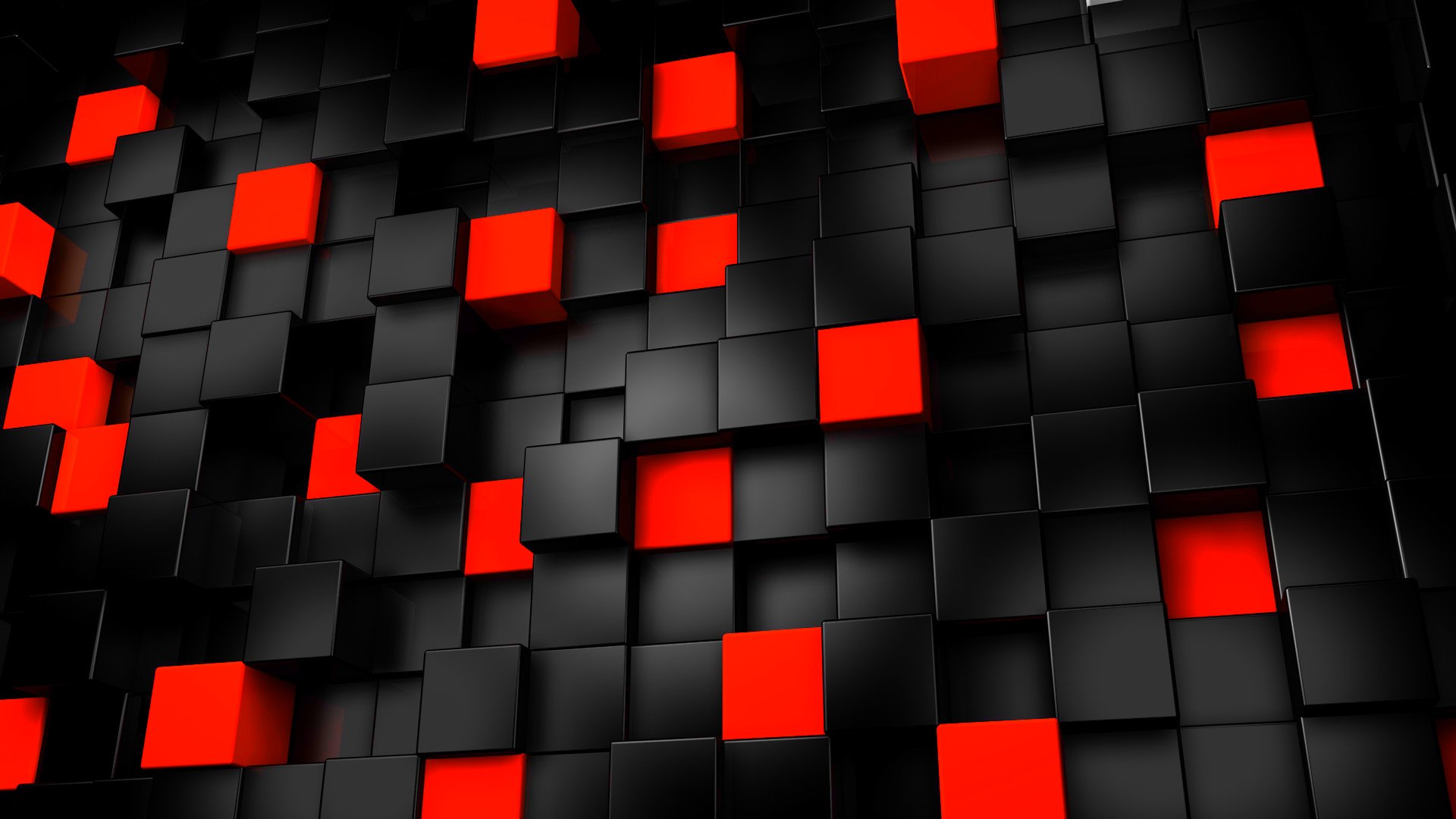 Abstract Black And Red Cubes Wallpapers Cool Deskop Wallpapers 1920x1080