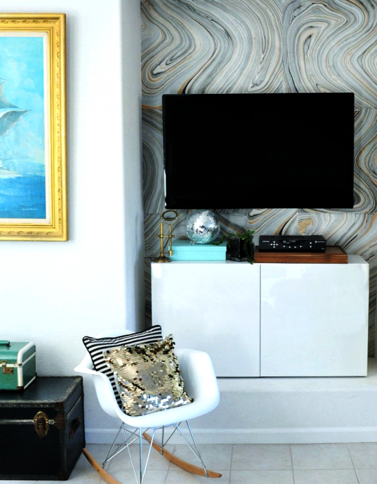 Wallpaper Project for DIY Home Decor How To Make Your Own Removable 550x706