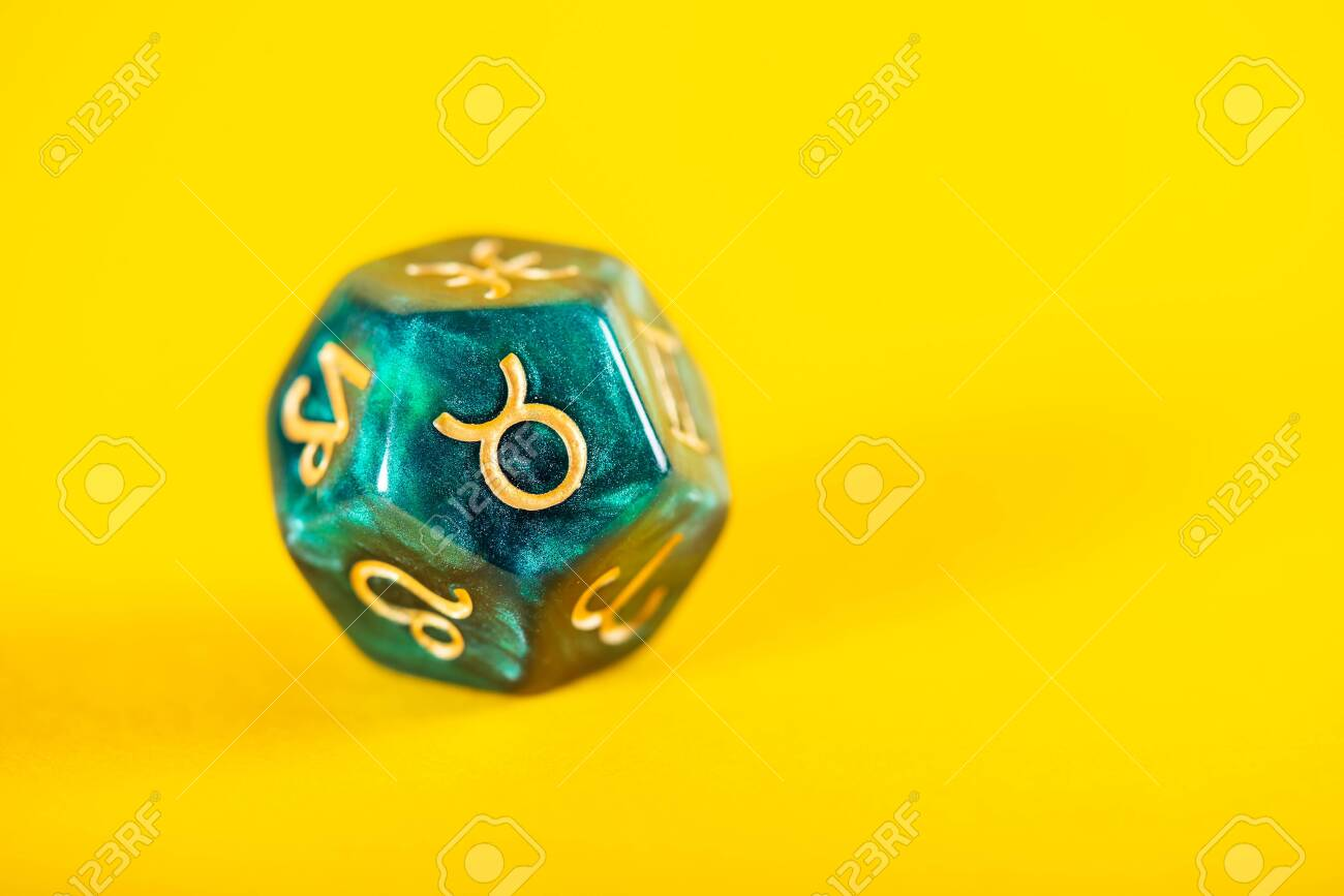 Astrology Dice With Zodiac Symbol Of Taurus Apr 20   May 20 On 1300x867