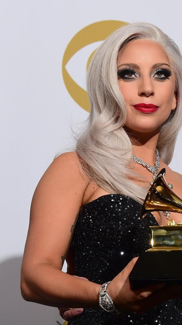 Wallpaper Lady Gaga Most Popular Celebs in 2015 Grammys 2015 640x1138