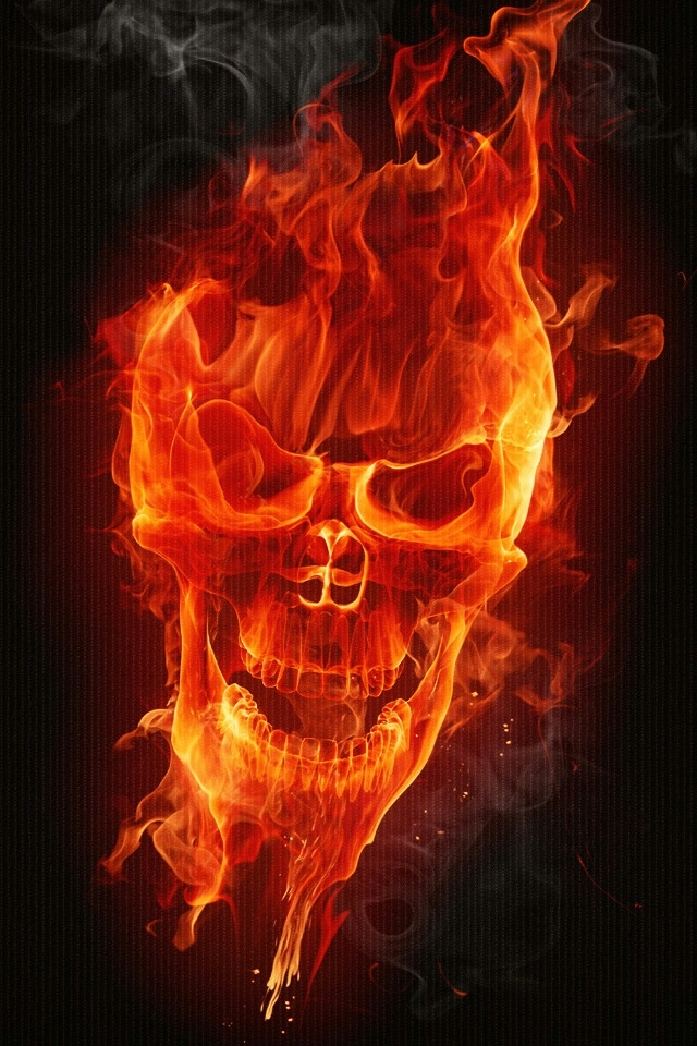 Fire Skull iPhone 4 Wallpaper and iPhone 4S Wallpaper 640x960