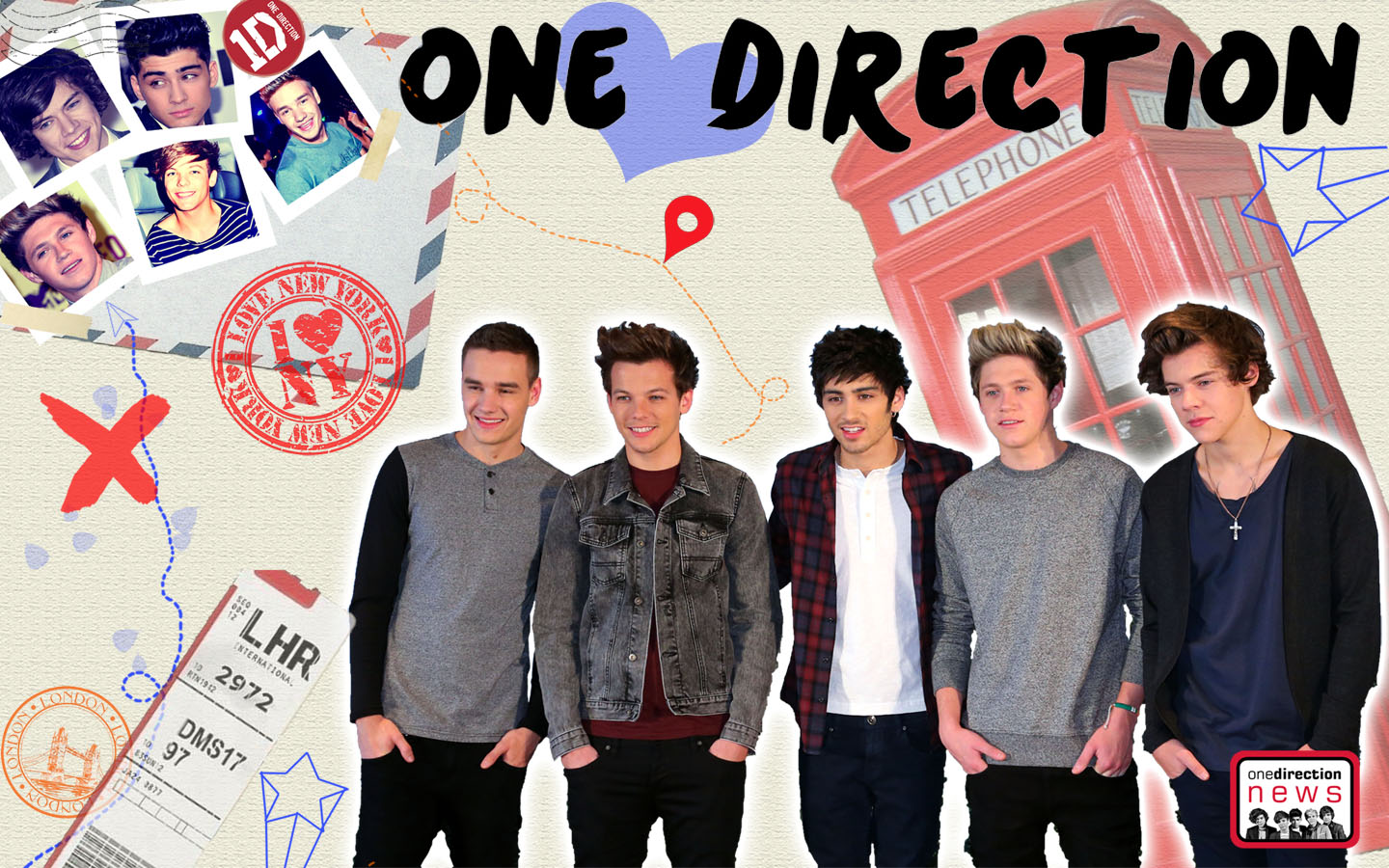 One Direction Wallpapers Harry Zayn Louis Liam and Niall 1440x900