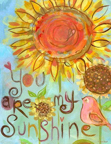You Are My Sunshine Wall Canvas Art   The Frog and the Princess 385x500