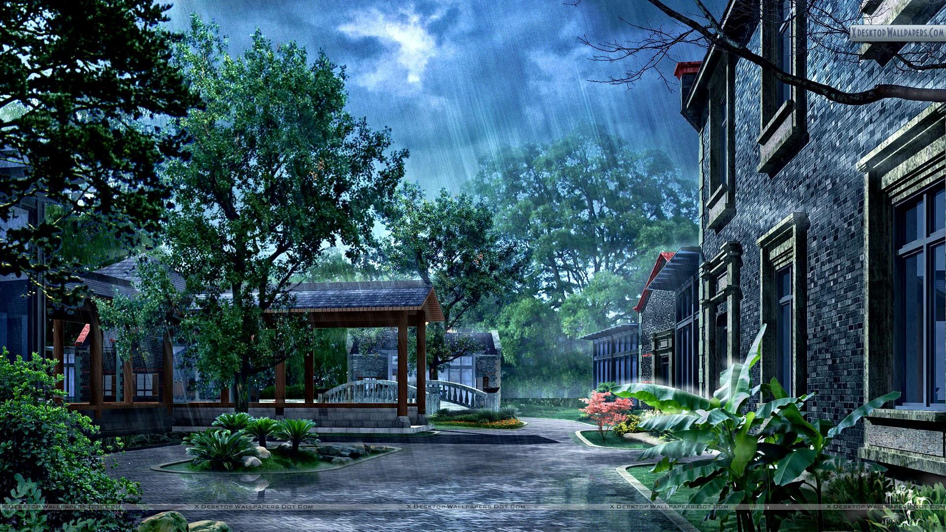 Rainy Day In Morning 1920x1080