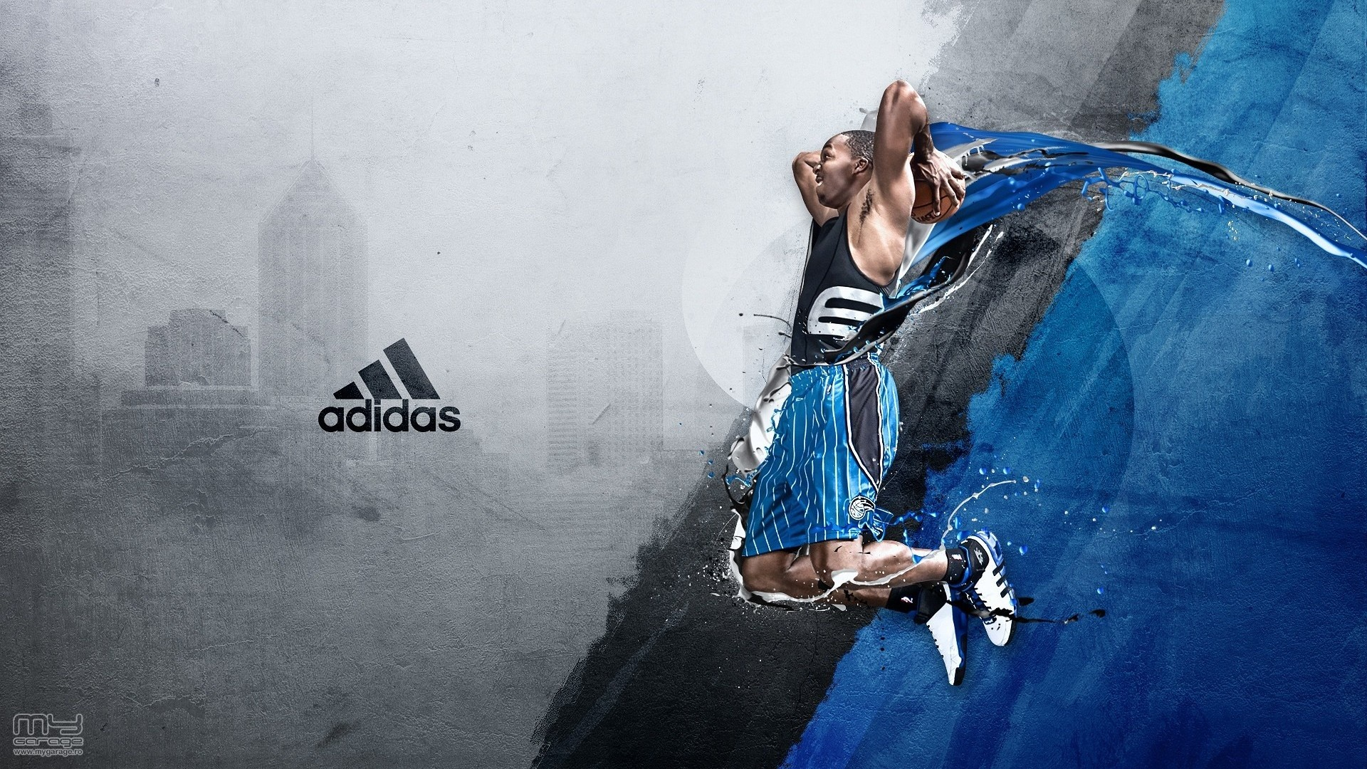 Adidas HD Blue Wallpaper 1920x1080 HD Sport 1920x1080