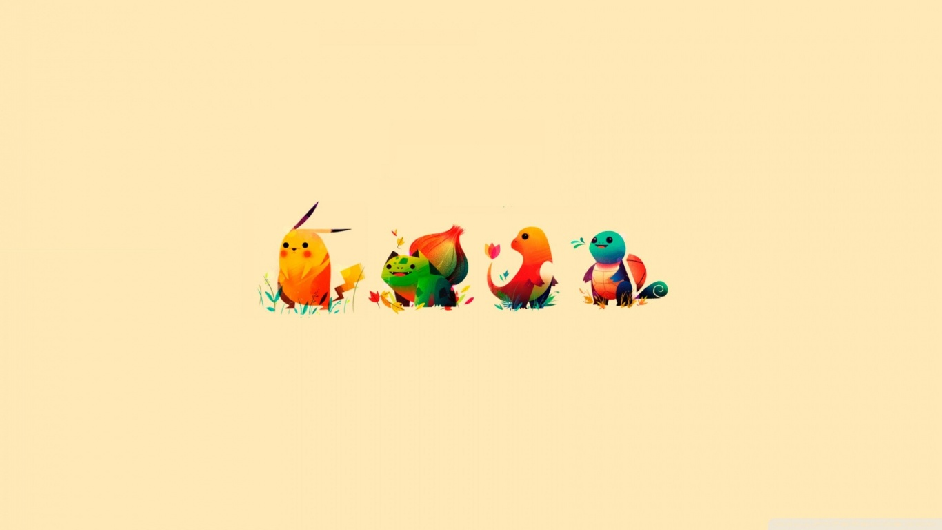 1366x768 Pokemon Characters desktop PC and Mac wallpaper 1366x768