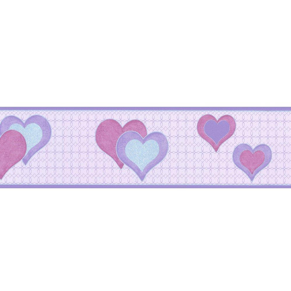 wallpaper borders c12debona hearts wallpaper border lilac silver p784 1000x1000