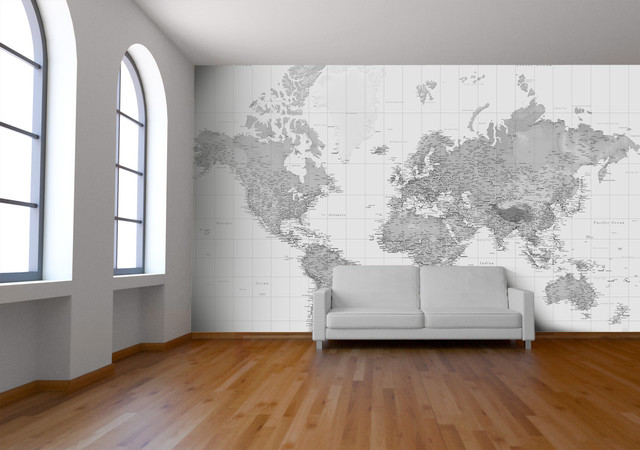 Black and White Wallpaper Wall Mural   Contemporary   Wallpaper 640x450