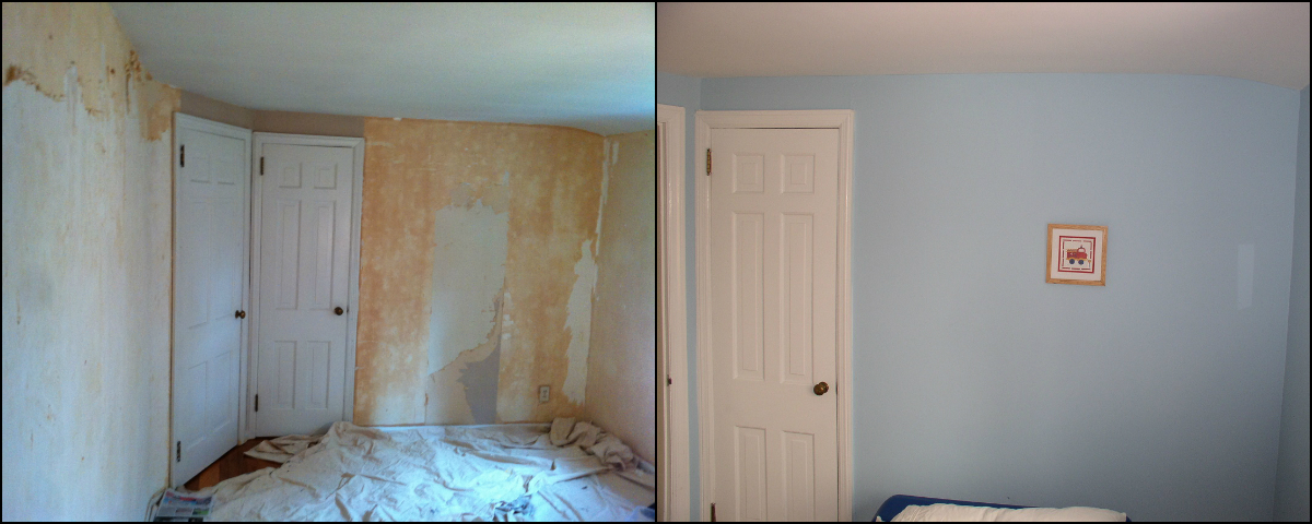 Interior Painting after Wallpaper Removal Bedroom in Morristown NJ 1200x480