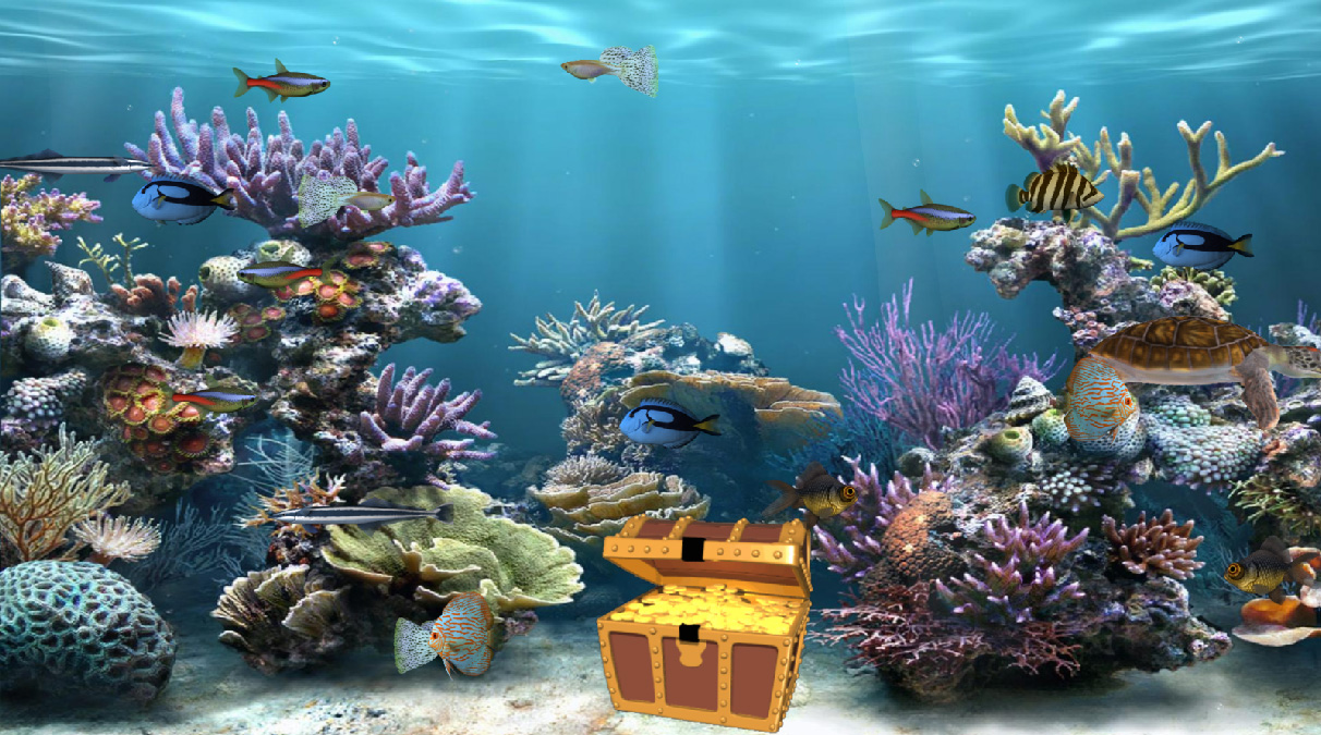 Clear Aquarium Animated Wallpaper   DesktopAnimatedcom 1212x675