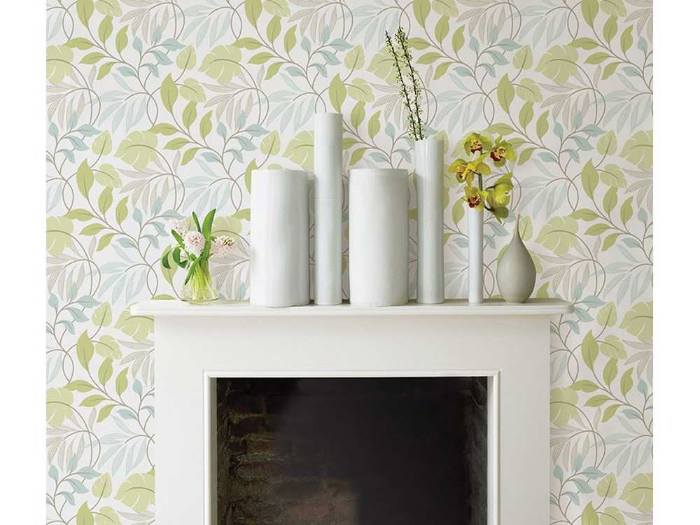 Temporary wallpaper is a no mess solution for covering over ugly walls 1000x750