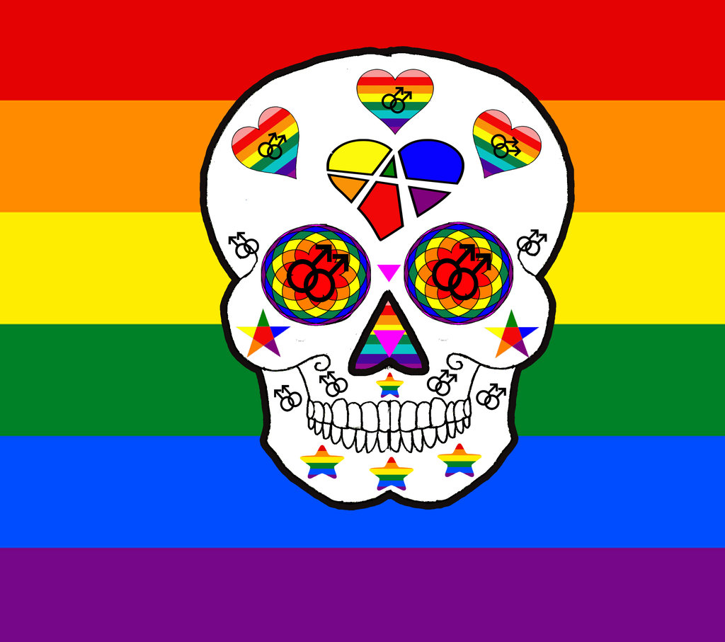 Lgbt Pride Wallpaper Gay pride sugar skull by 1024x907