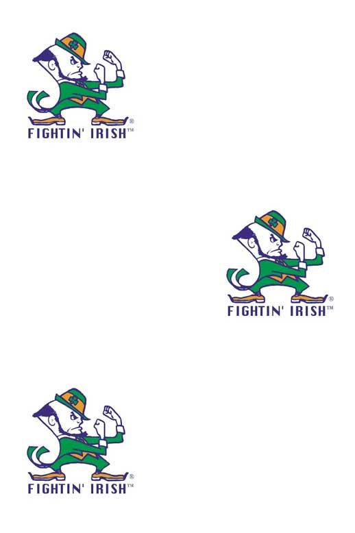 Notre Dame Fighting Irish Logo Wallpaper Double Roll 518x778