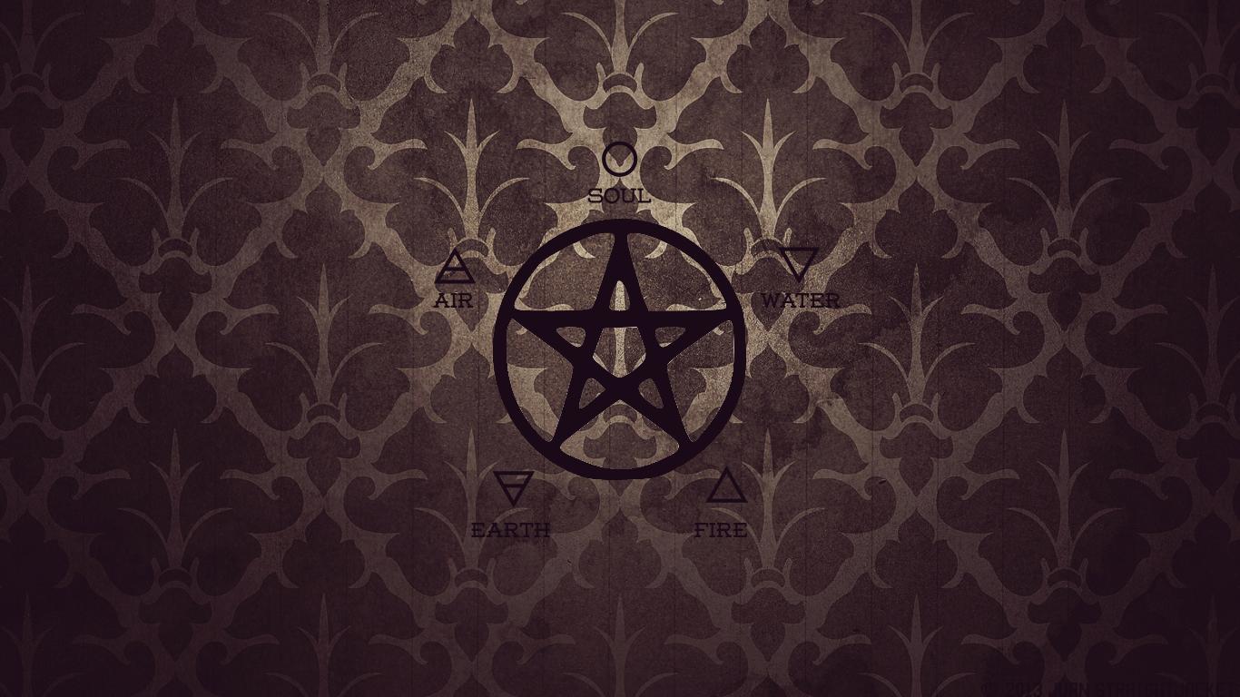 wiccan pentagram wallpaper - photo #6
