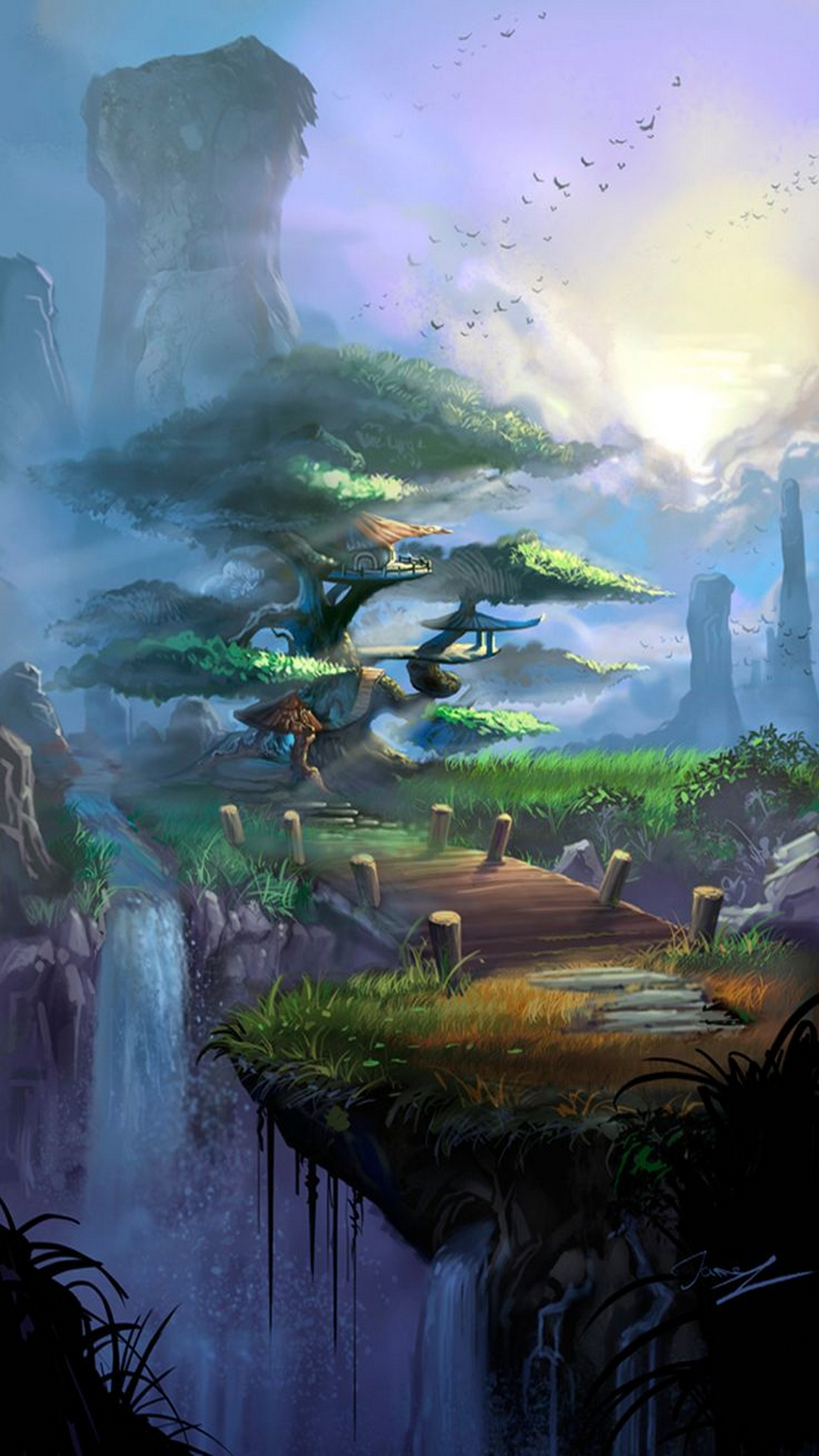 Wallpaper For Iphone   Beautiful Fantasy Landscape Art   1242x2208 1242x2208