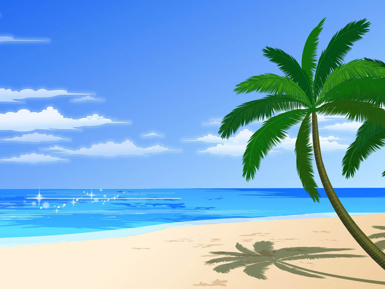 Vector Beach Desktop Wallpaper 1600x1200