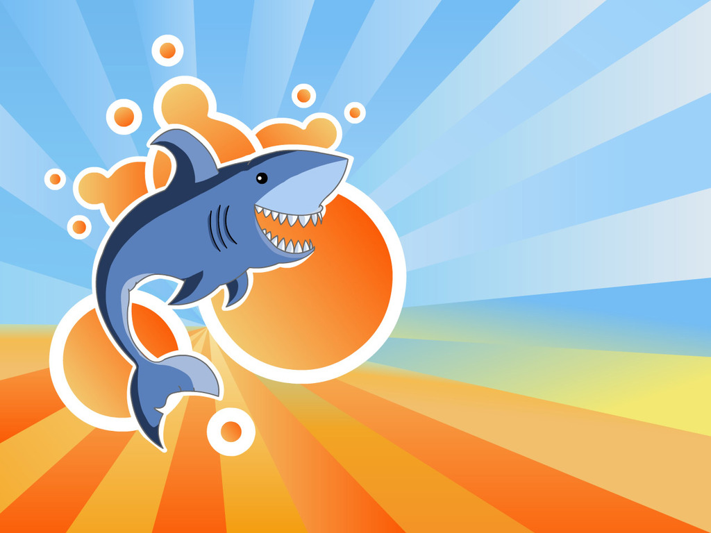 Cartoon Shark Wallpaper   Cartoon Images 1024x768