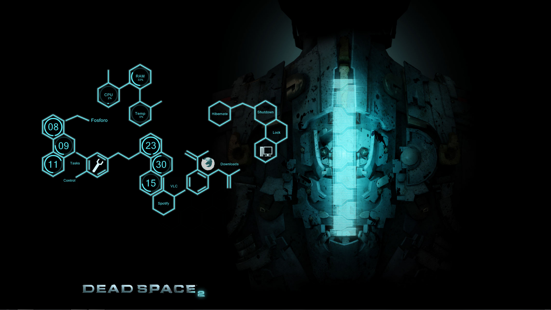 Dead Space Wallpaper 1920x1080 Dead, Space, 2, Rainmeter