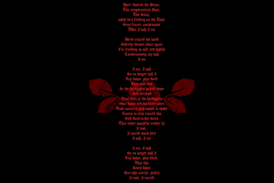 Rose Lyrics A Perfect Circle Wallpaper by CrazyNachos 900x600