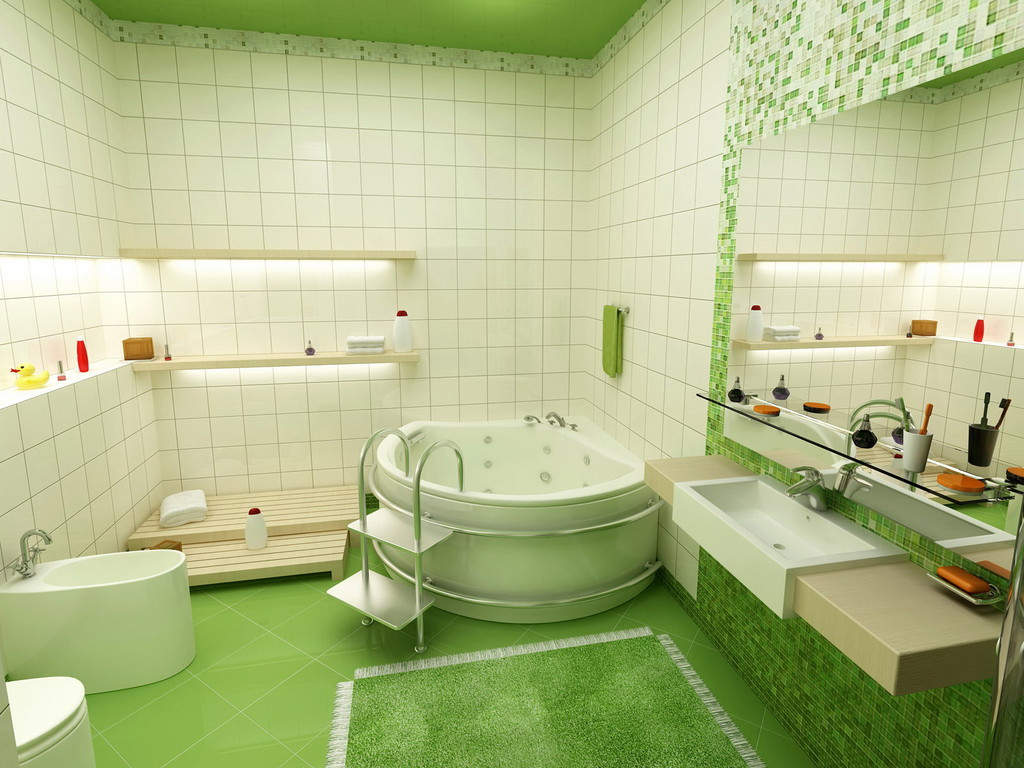 Bathroom Wallpaper Ideas for 2014 Industry Standard Design 1024x768