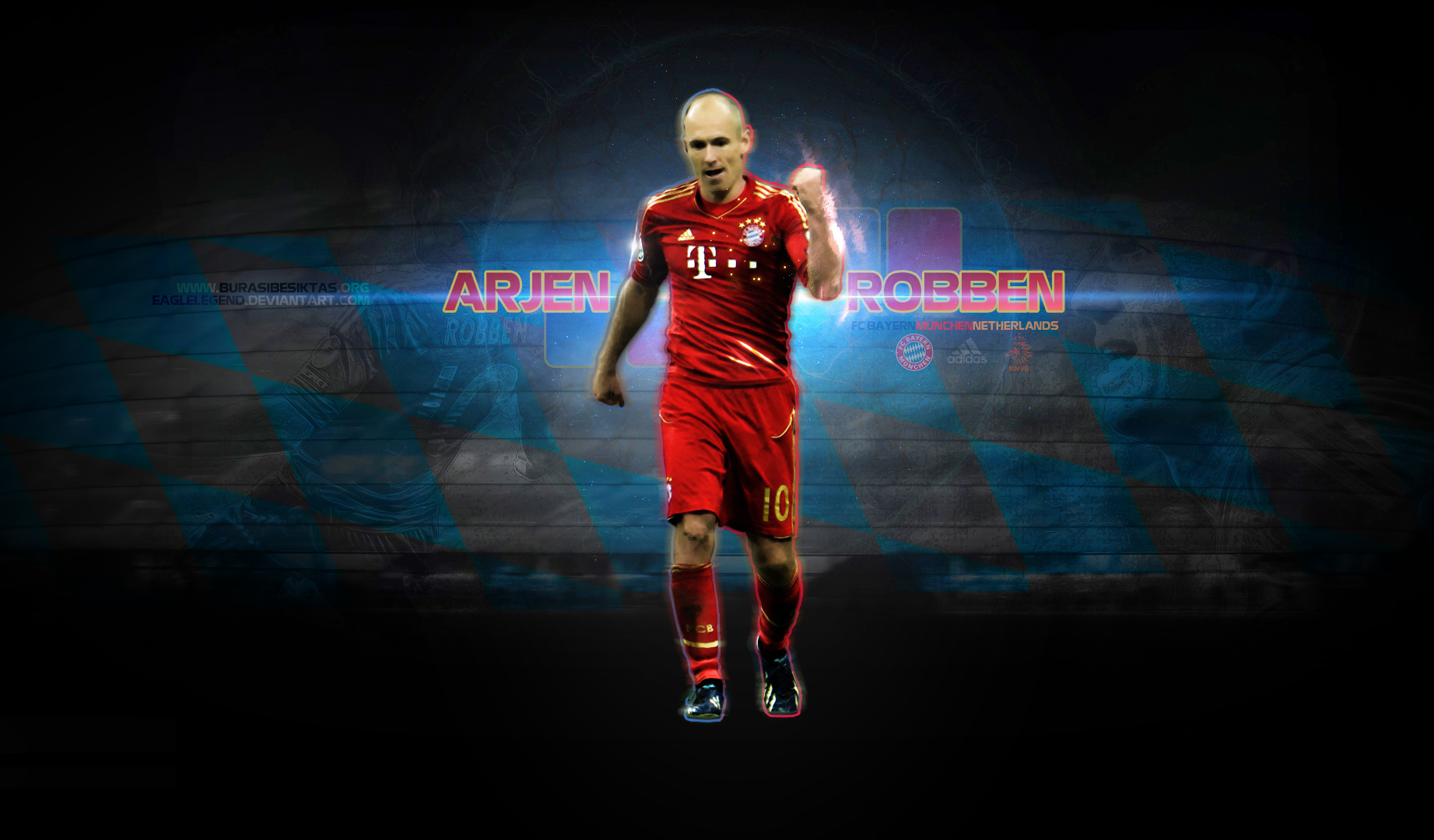 Arjen Robben Wallpaper HD The Art Mad Wallpapers 1843x1080