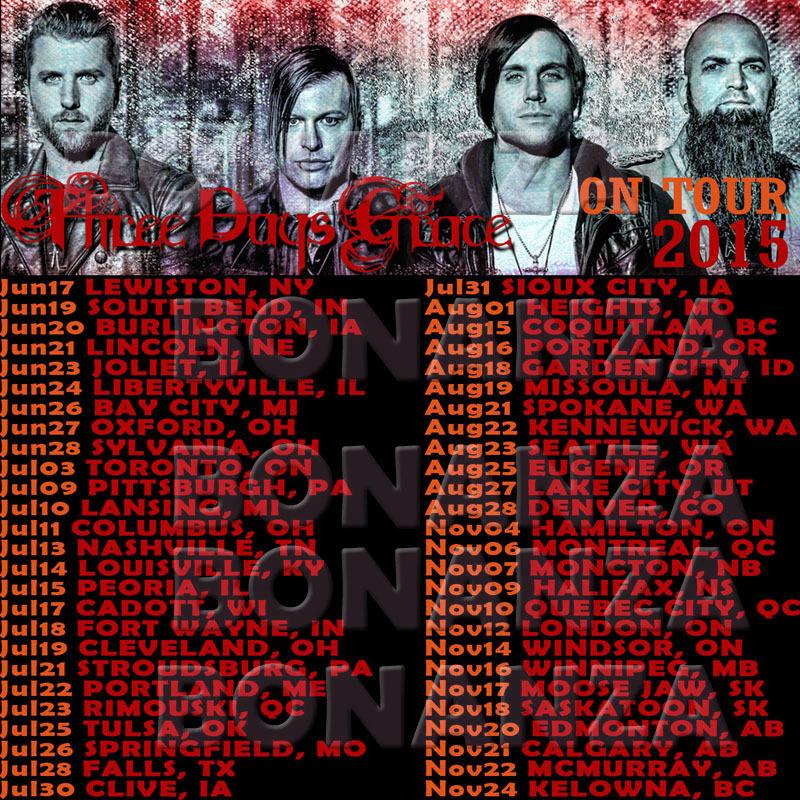 Three Days Grace Human Live Concert Tour Date 2015 DNI3 Tee T   Shirt 800x800
