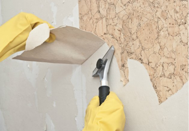 How to Remove Wallpaper Glue From Walls 630x436
