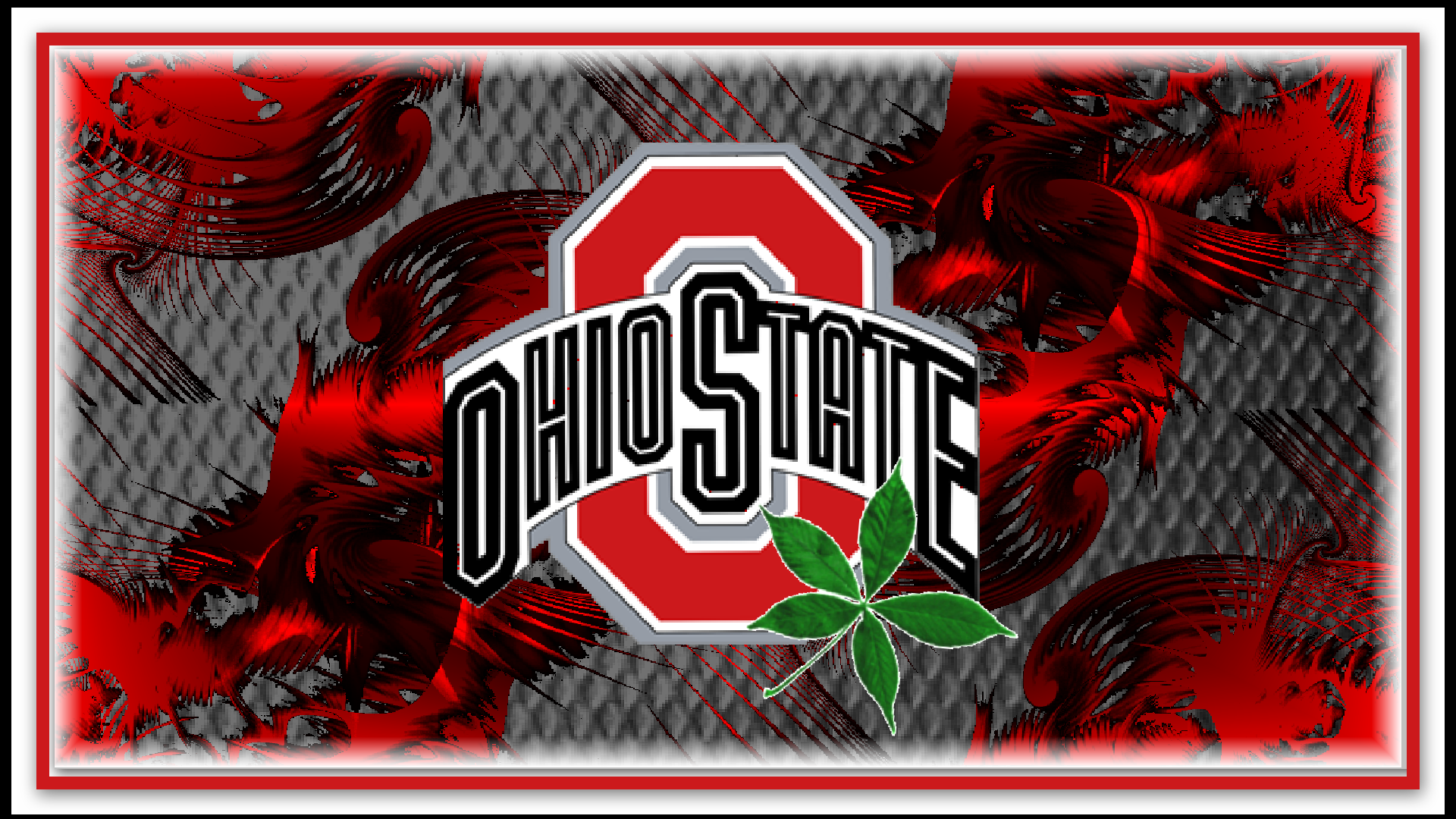 red block o ohio state with buckeye leaf   Ohio State 1920x1080