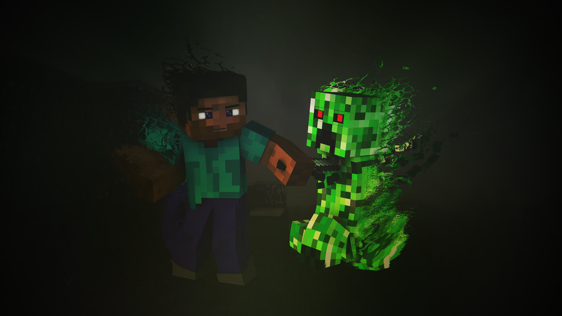 Steve Minecraft Wallpaper 19 Epic Wallpapers   Minecraft Creeper 1920x1080