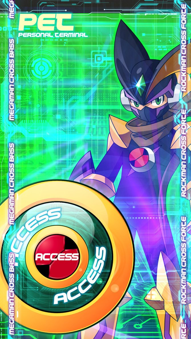PET interface Megaman X Bass by EnlightendShadow 670x1191