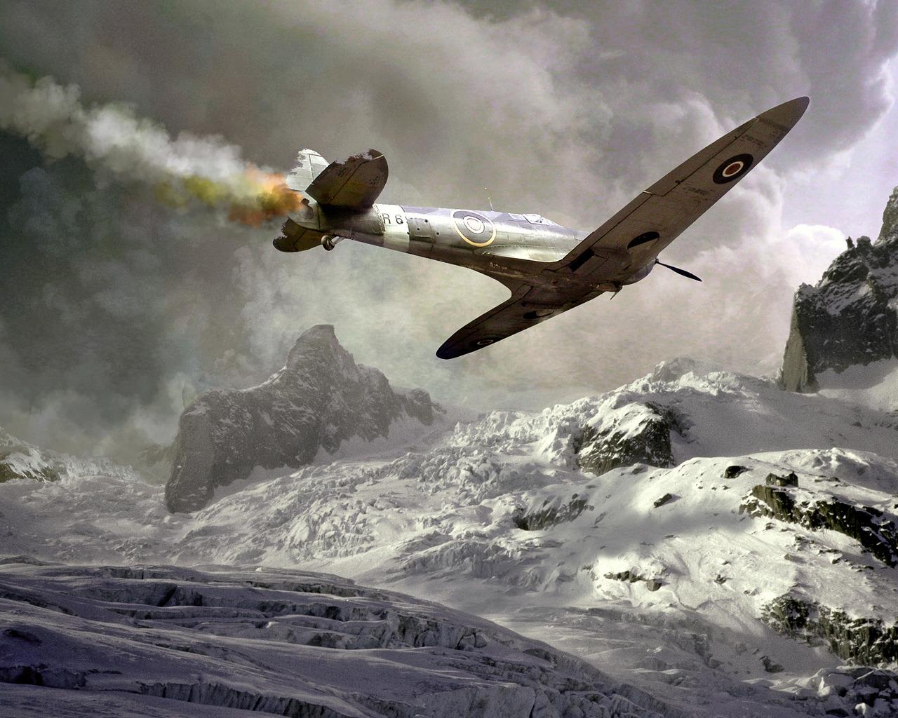 plane crash 1280x1024