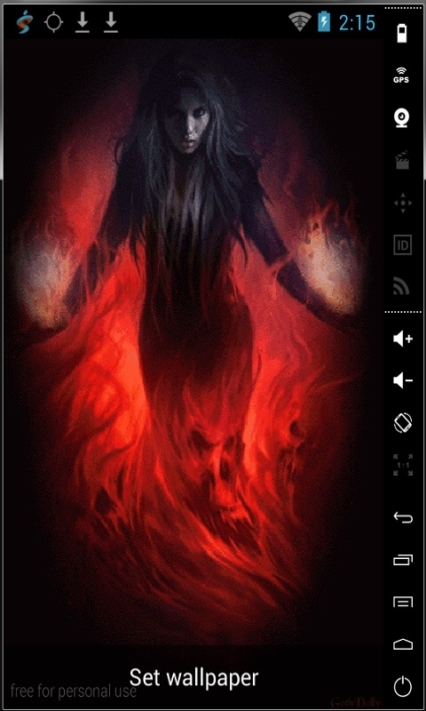 Download Wrapped To Fire Live Wallpaper for your Android phone 480x800
