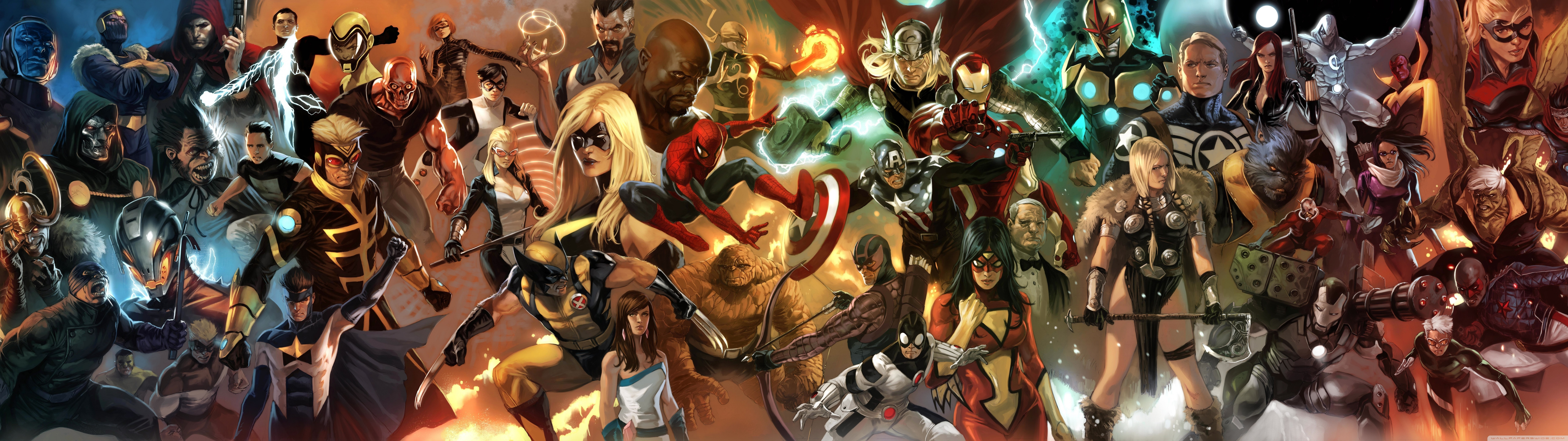 Marvel Comics Characters Wallpaper 76802160 Wallpaper 7680x2160