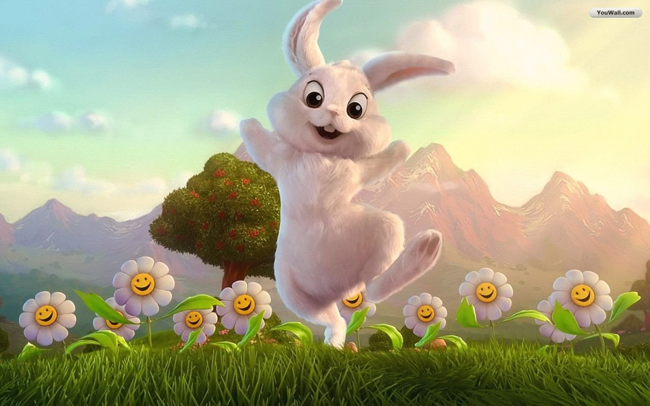 Download Wallpapers Happy Easter Bunny Wallpaper 1280x800