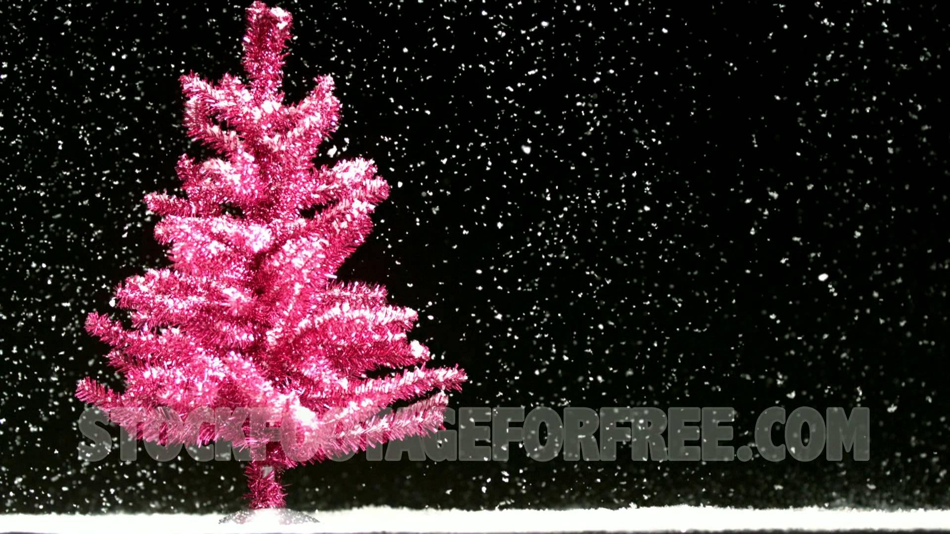 Pink Christmas Tree Wallpaper 1920x1080