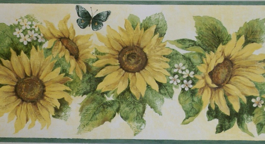 Free Download The Border Store Sunflower Wall Borders Country