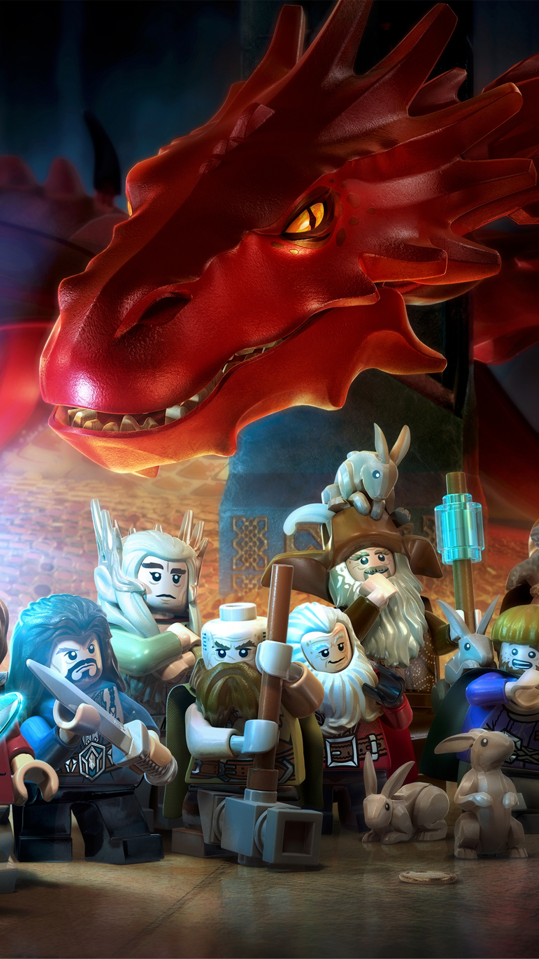 1080x1920 Wallpaper lego the hobbit lego art game characters 2014 1080x1920