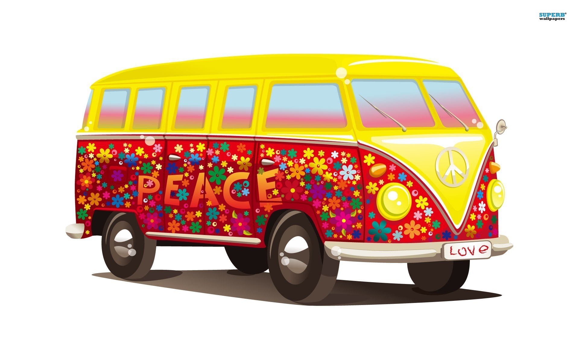 hippie van wallpaper wallpapersafari. Black Bedroom Furniture Sets. Home Design Ideas
