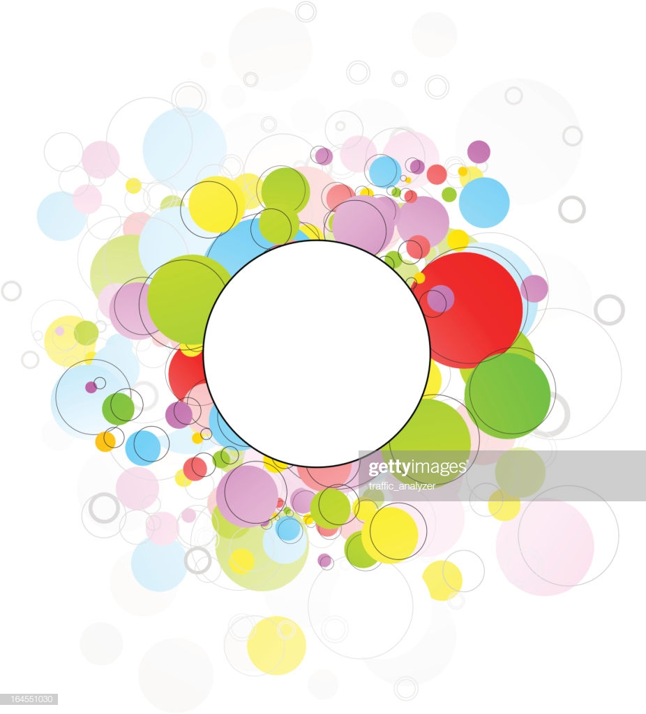 Abstract Motley Circles Background stock vector Getty Images 926x1024