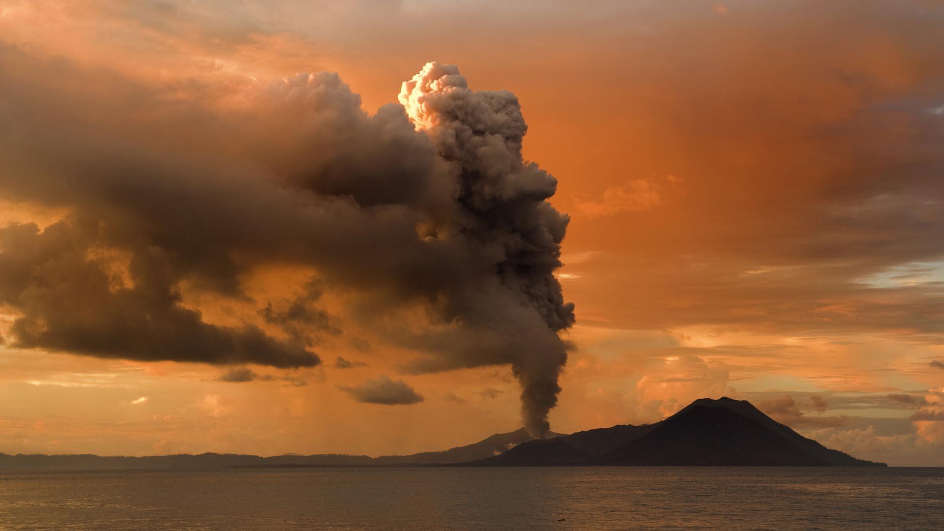 Volcano At Sunset HD Wallpaper FullHDWpp   Full HD Wallpapers 1920x1080