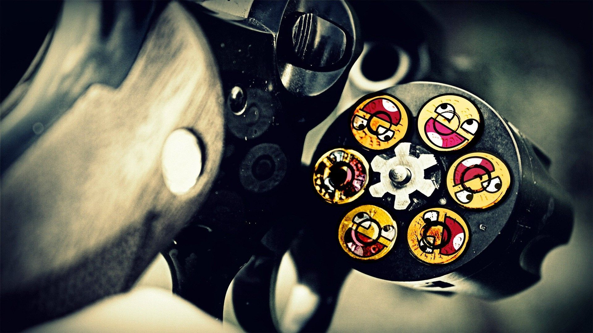 Awesome face bullets Wallpaper 7480 1920x1080