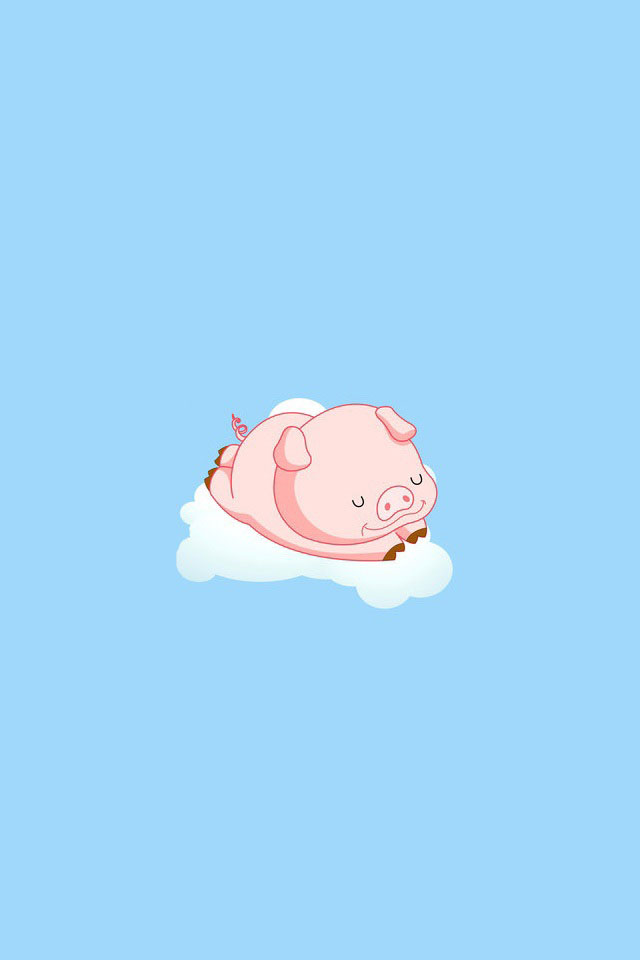 Cute pig hand painted iPhone wallpapers Background and Themes 640x960