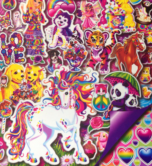 Lisa Frank Collage Collage gradient 500x545