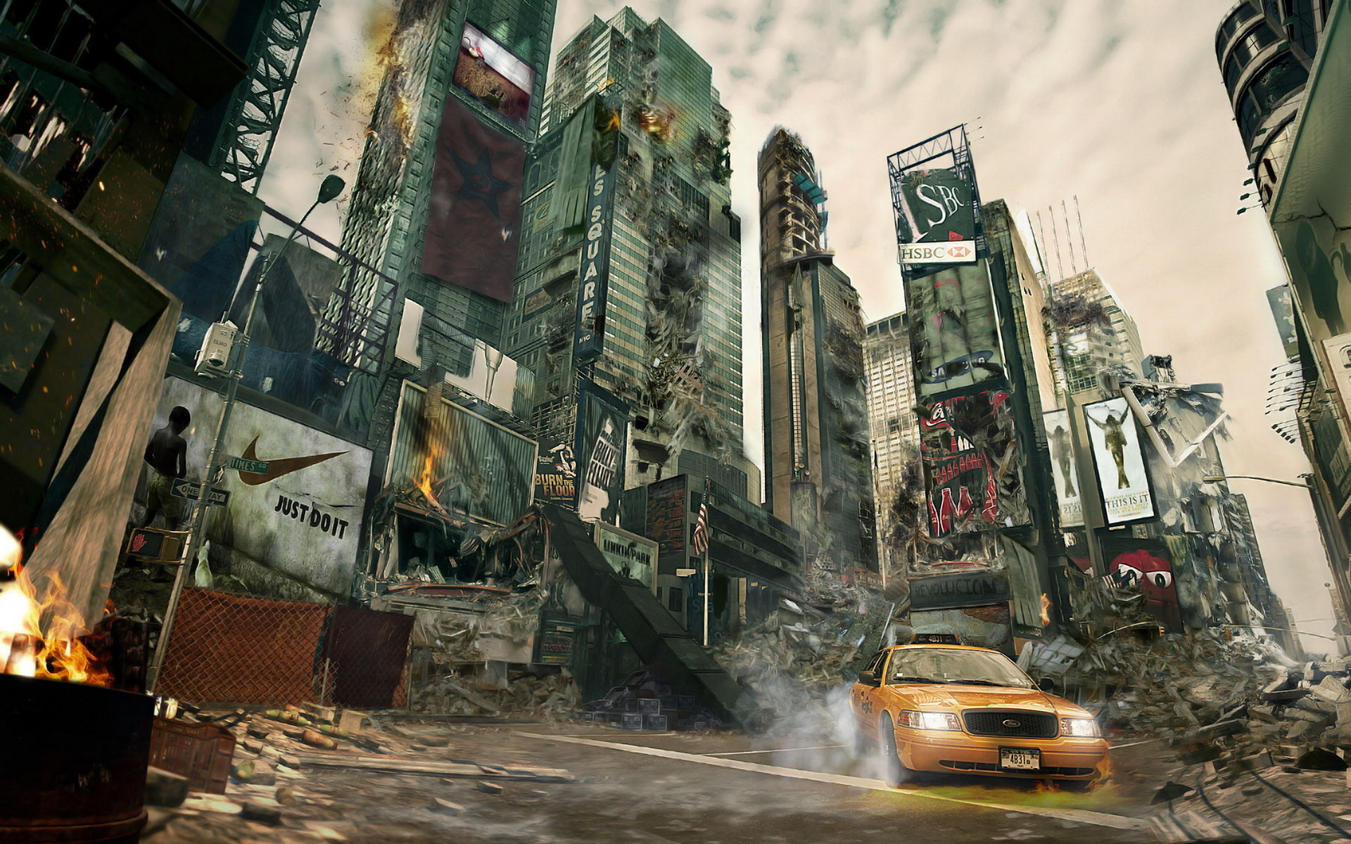 New York City Destroyed Wide Hd Wallpaper 22511   1768486 1920x1200