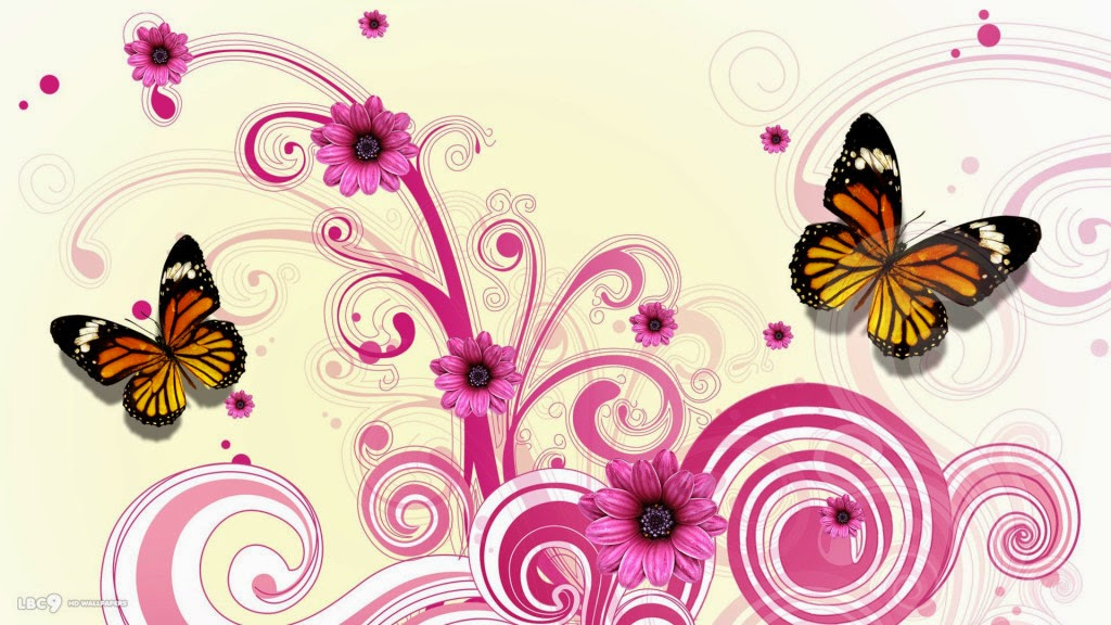 Colorful Butterfly designs background for desktop Abstract HD 1024x576