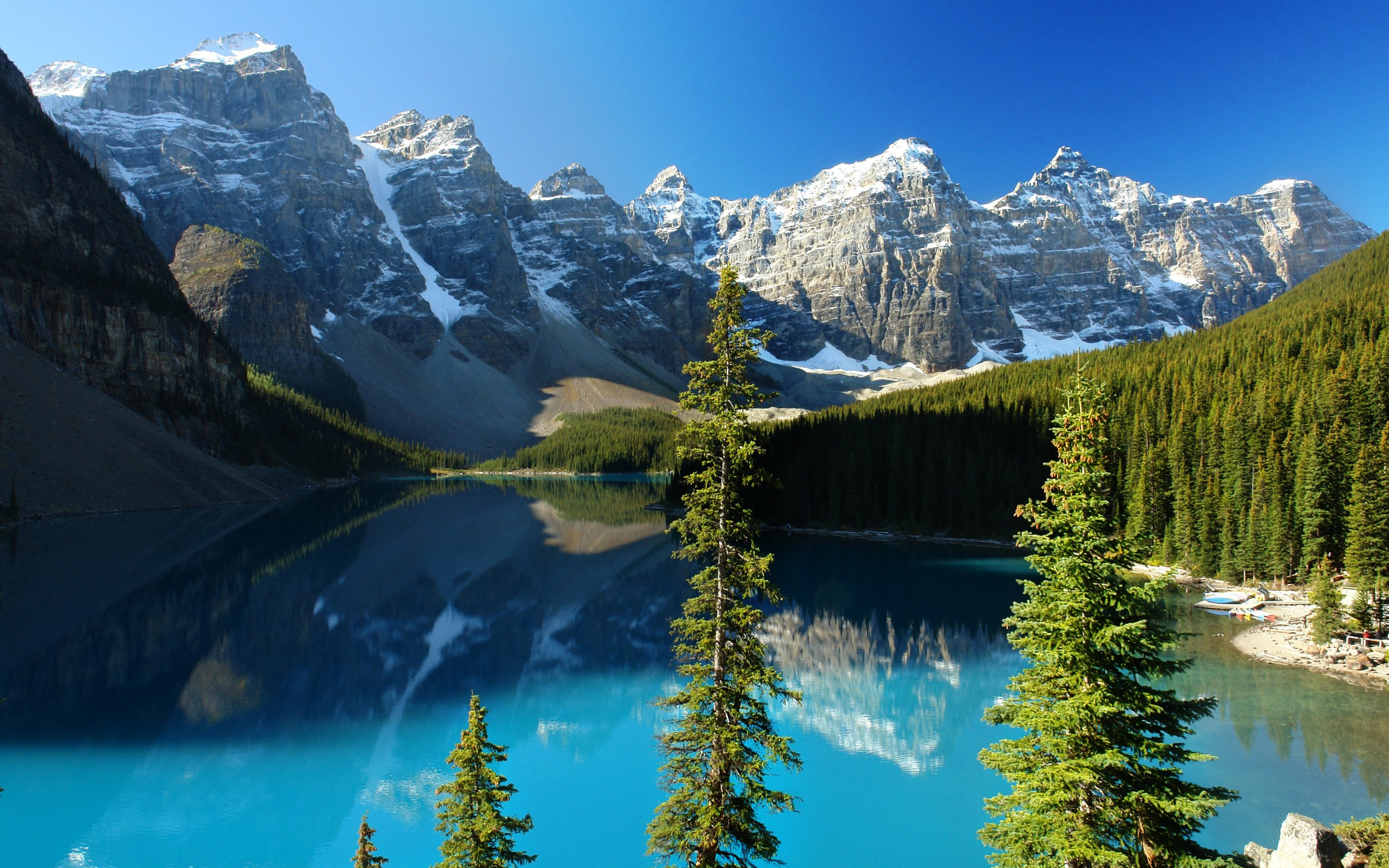 ... Reflection Mountains on Lake Surface Wallpaper   Free Wallpapers